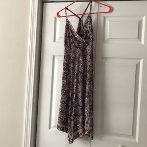 Purple paisley summer dress